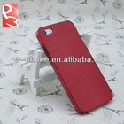 Red Hard Plastic Crystal Brushed Case for iPhone 5S 5G