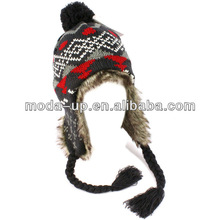 New 2014 knitted beanie hat,free knit pattern for hat earflaps,pom pom beanie hats wholesale