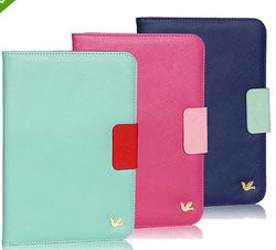 wholesale Wallet Card Holder PU Leather Flip Case Cover for iPad 4 3 2 & iPad Mini2