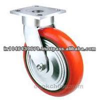Heavy Duty Industrial Hardware PU Castor Trolley 150mm caster wheel