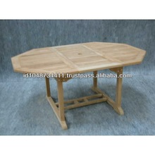 Indonesia Furniture of Outdoor Extend Octagonal Teak Table