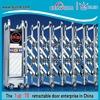 Steel gate security industrial folding door steel grill door design