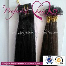Preferred Hair Hottest&Topest Sale!1# 20'' Yaki Straight Style 100% Brazilian Hair U-Tip Pre-Bonded Hair Extension Hotsale