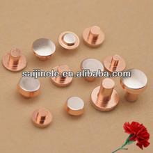 Multi- metallo pin contatto elettrico/rivetti per campana interruttori