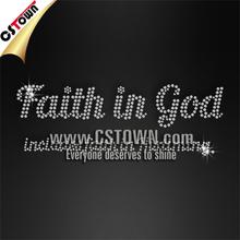 Shining faith in God crystal iron on transfers