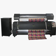 High efficiency MY1600F sublimation flag making machine fast speed with two head