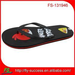2014 fancy cartoon flip flops for lady
