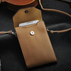 Fashion strap design phone bag for samsung galaxy note 3 , first layer leather cell phone bag , cell phone neck hanging bag