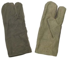 Army Work Gloves, OD green, 3 fingers, like new