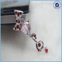 Asian Fashion Jewelry! Rhinstone music note anti dust plug for samsung