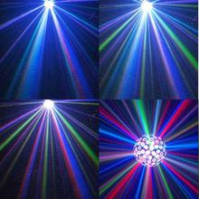 sihirli kristal disko topu ışık 12v mp3 usb telekontrol