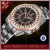 wholesale alibaba wrist quartz watch diamond watch/cheap stainless steel watch