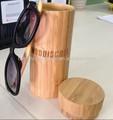 2014 madeira de bambu e óculos de sol caso de bambu