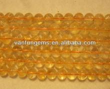 natural gemstone AB grade Citrine round beads semi precious stone beads string