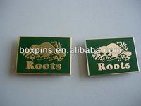 Custom high quality square soft enamel metal name plate/name badge