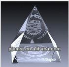 3d laser crystal pyramid