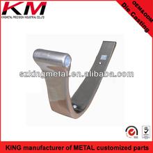 Chrome polished die cast chair handle aluminum part