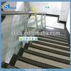 The galvanized steel handrail in the indoor