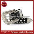 Hots diamant vente- forme de verre décoratif bling. crocodile western cowboy ceinture boucle
