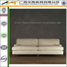 Comfortable antique sofa furniture,solid oak wood frame love seat retro sofa