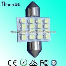 Cars light base 31 / 36 / 39mm 120 degree bulbs 12v car led light bulb