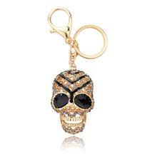 Fashion alloy crystal Keychain Enamel Skull Keychain