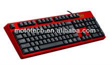 PS/2 USB port 104keys standard mechanical laser gaming keyboard
