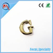Metal Decorative Bag Gold Letters Logo
