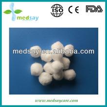 Absorbent cotton ball