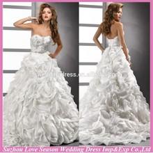 WD1220 sweetheart neckline lace corset low back big flower skirt bling luxury crystal beading women ball gown wedding dress