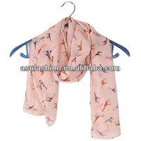 Costume Pink Giraffe Pattern Chiffon Fashion Scarves