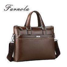 Italian design business executive mens genuine leather briefcase