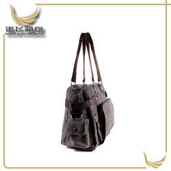 2014 designer fashion canvas tote bags/mens canvas leather travel bag