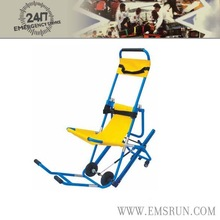 wheel immobilization folding reclining chair with footrest