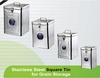 square stainless steel food storage containers