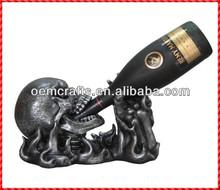 Decorative custom skull Cheap wine holder