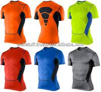 Fashion Design Different Colors Compression T Shirts For Men's