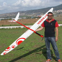 6CH 2.4G full composite model plane kits with wingspan 2.9m