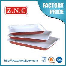 Carbon steel non stick large metal dish pan