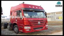 Length cabin Single sleeper 6x4 HOWO Tractor trucks price lowest