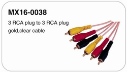 High quality vga rca cable with two ferrites db9 to vga cable
