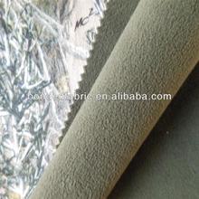 Bonded polar fleece softshell forest camouflage fabric