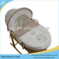 Luxurious cotton cover travel basket liner set