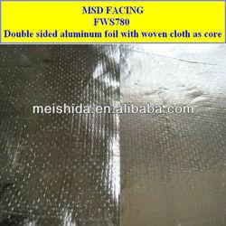 Double side aluminum foil PP/PE woven fabric