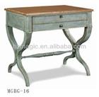 Cross leg wooden antique console table