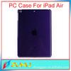 Popular back clear/solid hard plastic case for ipad mini2