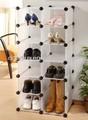 di plastica scaffali di stoccaggio fai da te per le scarpe
