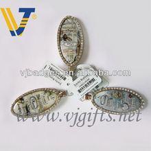 fashion zinc alloy bee sound led key rings