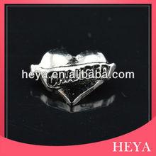 2014 heart charm wholesale engravable charms