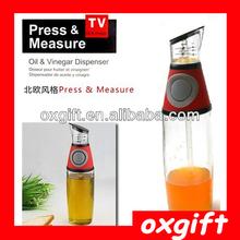 OXGIFT Easy Press & Measure Oil Vinegar Dispenser Container
